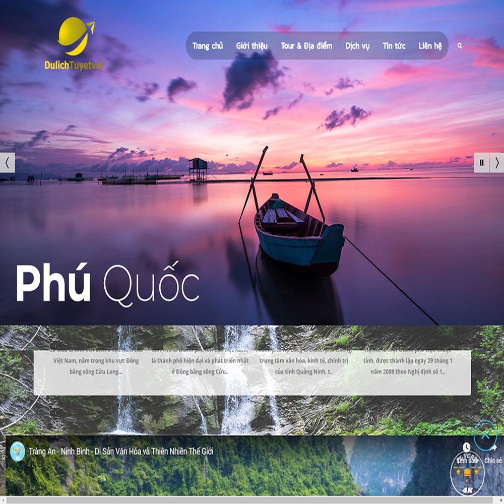 Thiết kế Website dịch vụ du lịch Tuyet voi