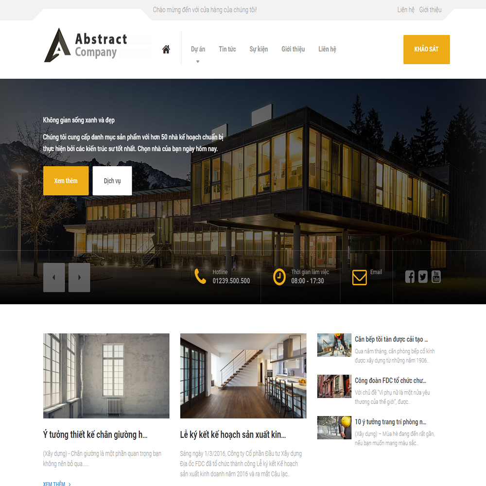 Thiết kế Website dịch vụ Abstract Company