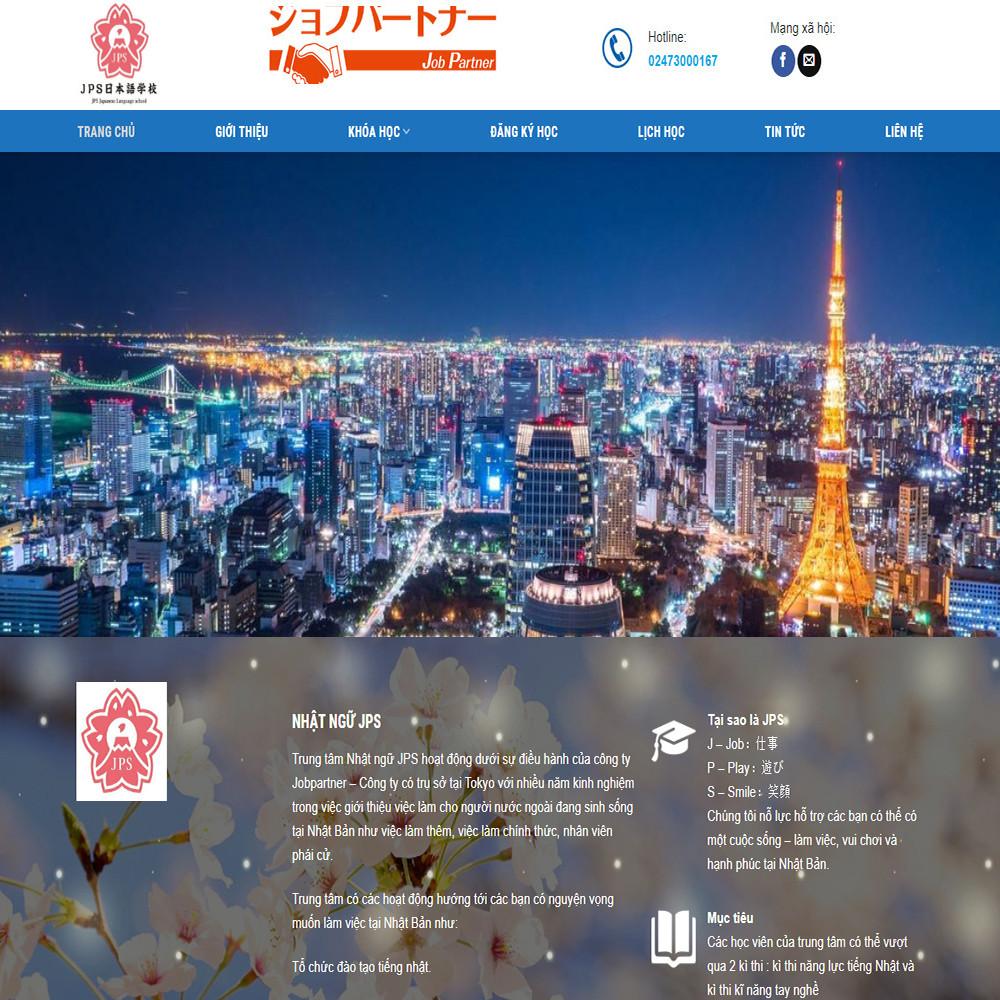Thiết kế Website dịch vụ giáo dục JPS