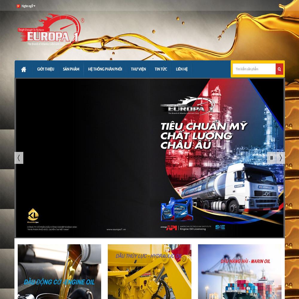Website bán hàng dầu nhớt EUROPA