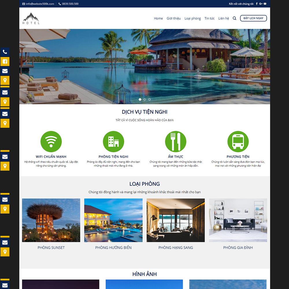 Thiết kế Website khách sạn 02