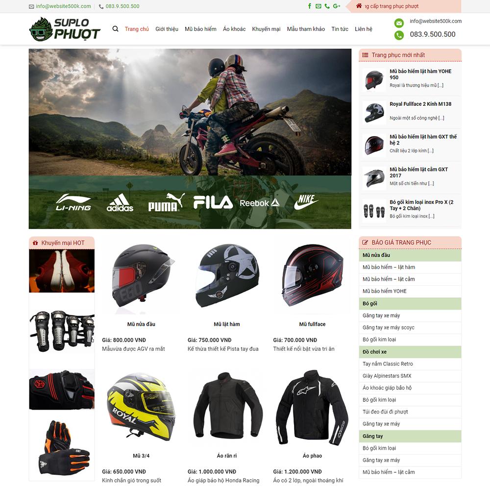 Thiết kế Website Phượt