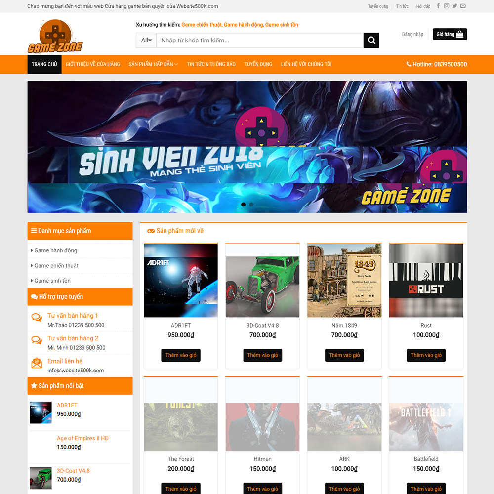 Website bán game