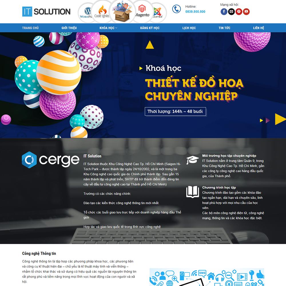 Thiết kế Website tin học, khóa học IT