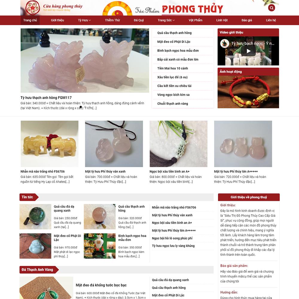 Website bán đá phong thủy