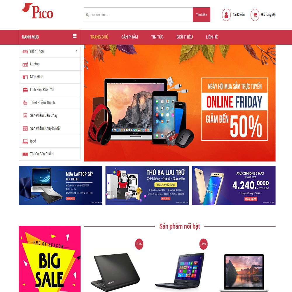 Thiết kế Website bán hàng điện tử Pico