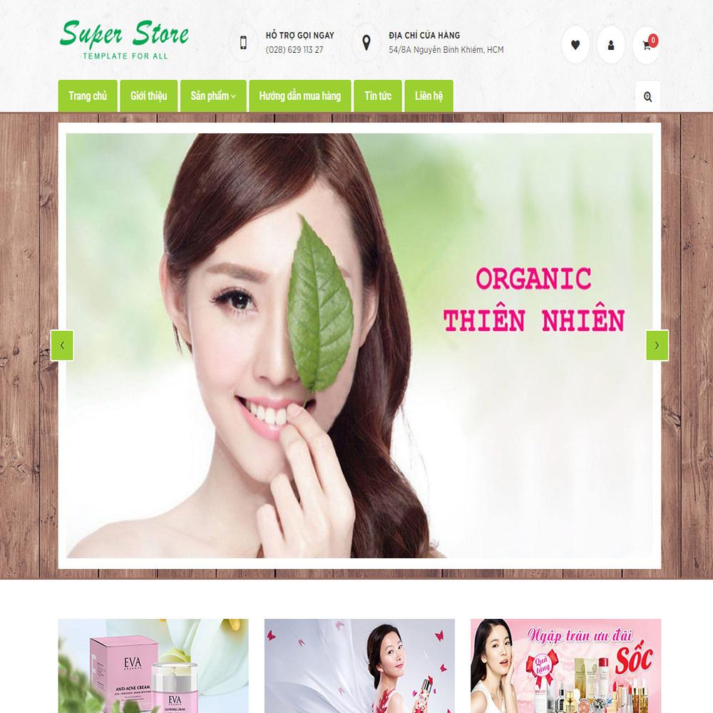 Website bán hàng mỹ phẩm Supper Store
