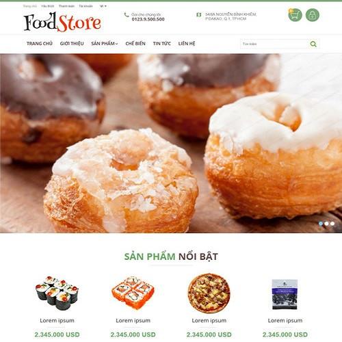 Thiết kế Website ẩm thực 550512