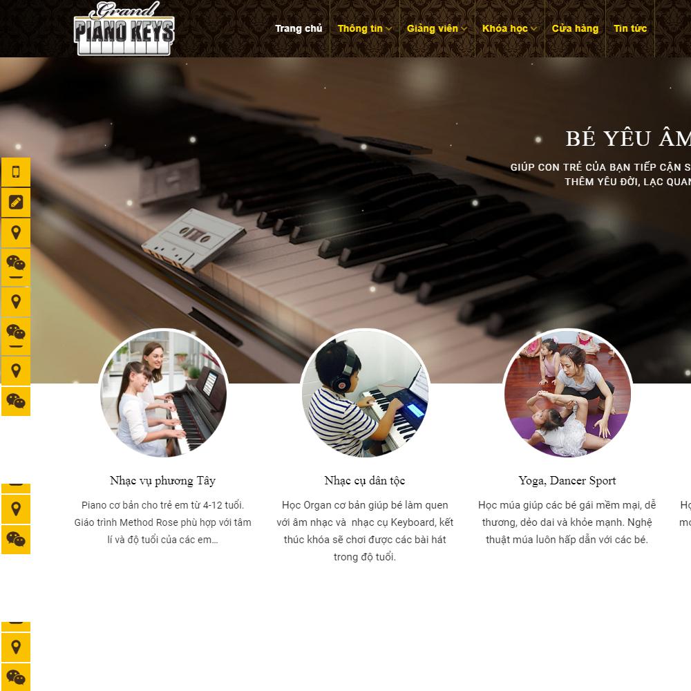 Thiết kế Website bán đàn piano