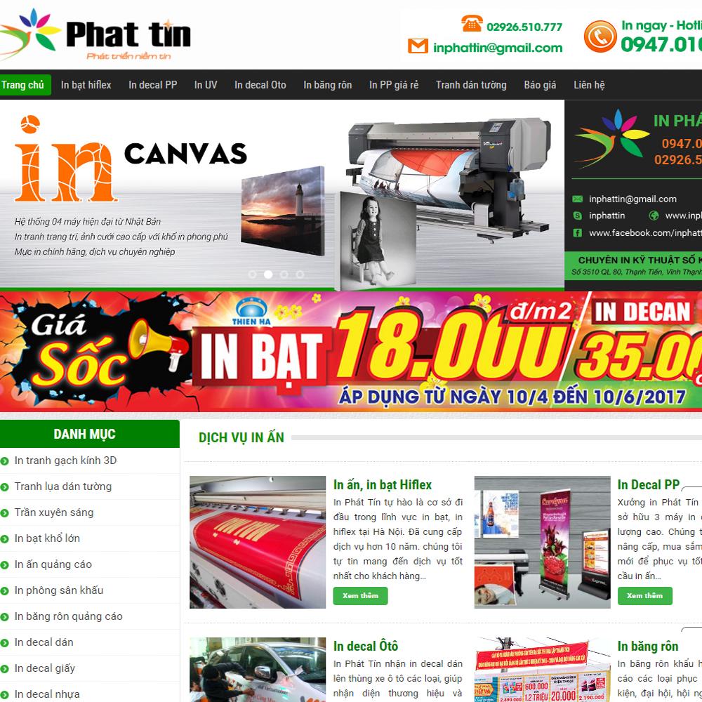 Thiết kế Website in bạt hiflex