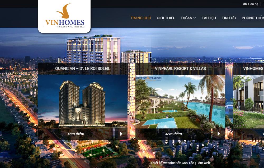 Thiết kế Website bất động sản 3