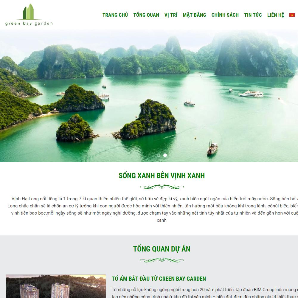 Thiết kế Website Bất động sản Greenbay