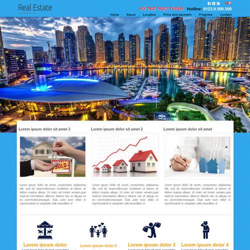 Thiết kế Website bất động sản 550503