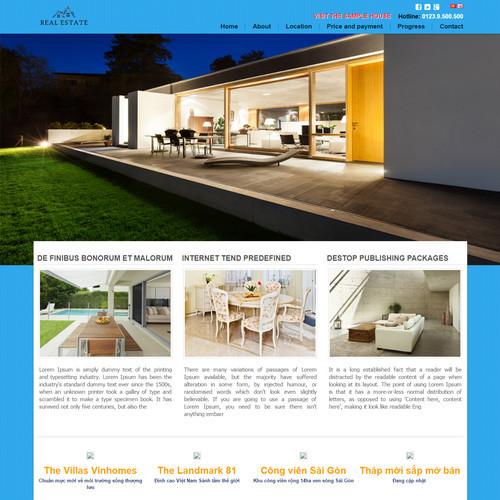 Thiết kế Website bất động sản 550507