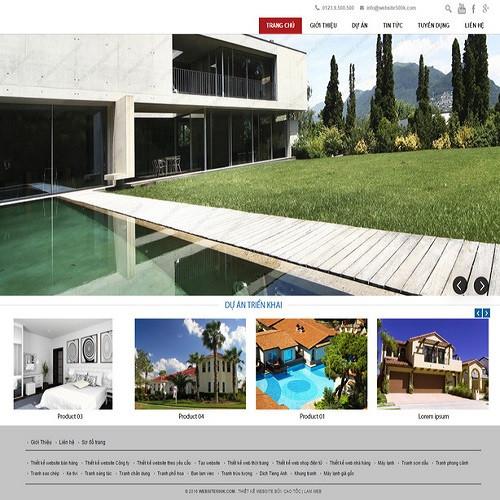 Thiết kế Website bất động sản 550513