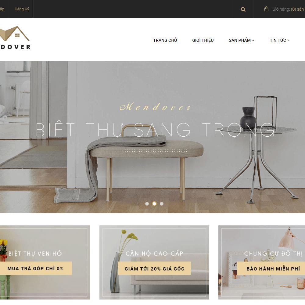 Thiết kế Website cho thuê căn hộ Mendover