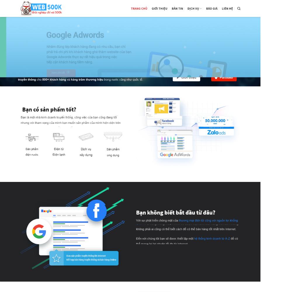 Thiết kế Website digital marketing
