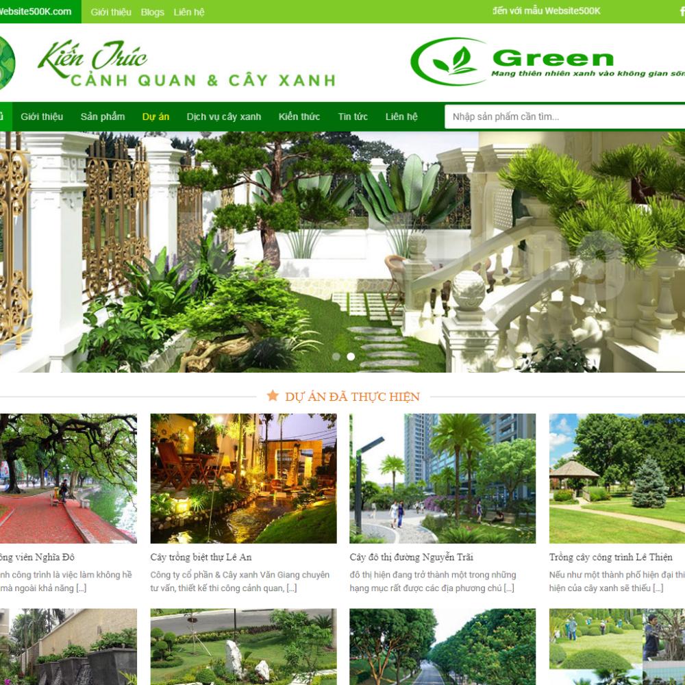 Thiết kế Website dịch vụ cây cảnh