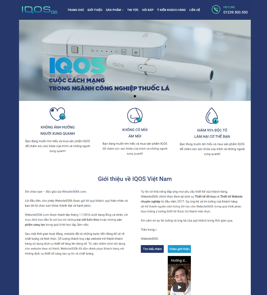 Thiết kế Website giới thiệu công ty, sản phẩm