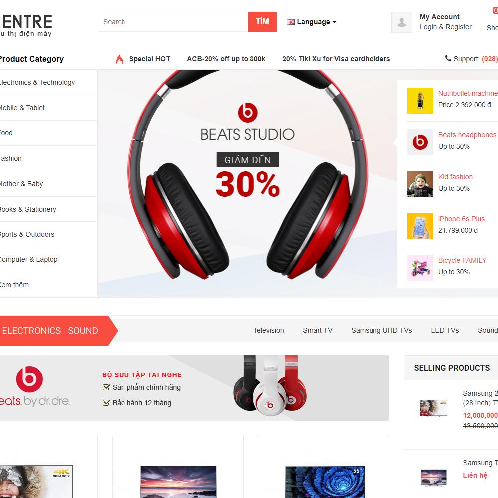 Thiết kế Website bán hàng điện tử Ecentre