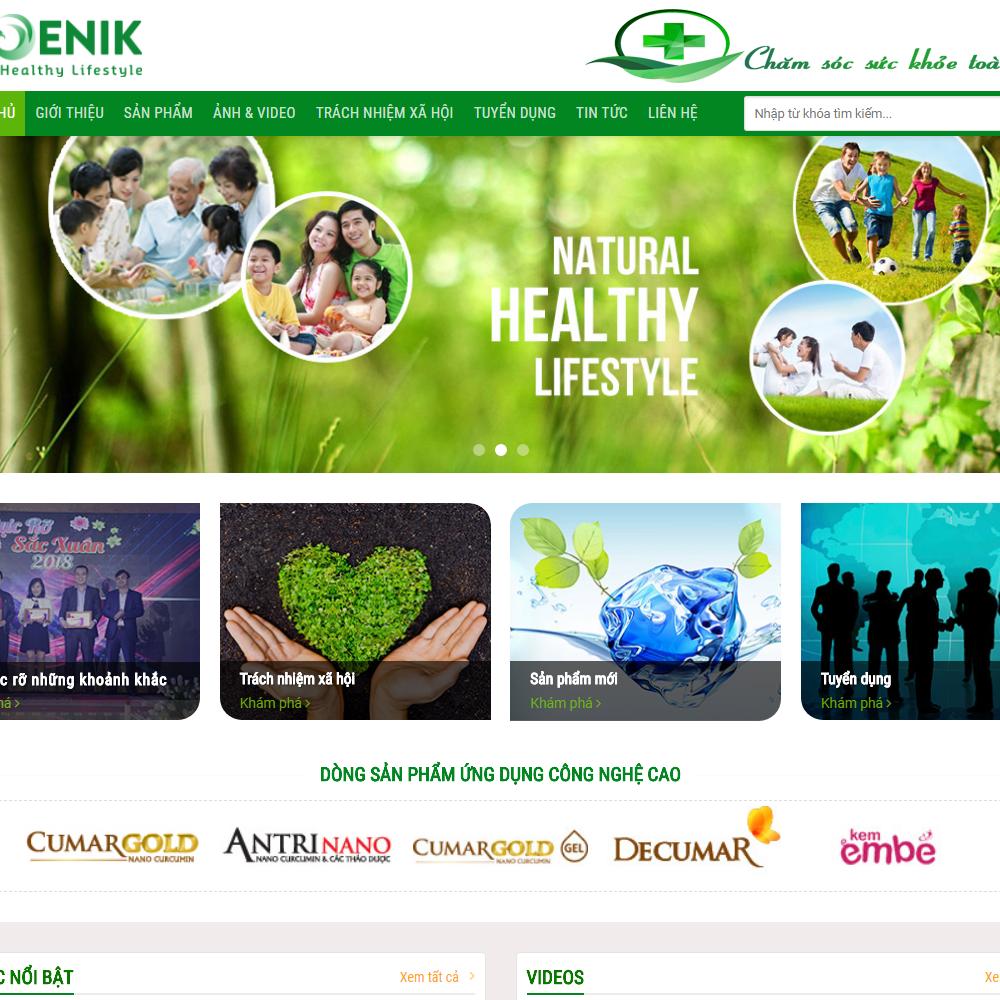 Thiết kế Website thực phẩm bổ sung