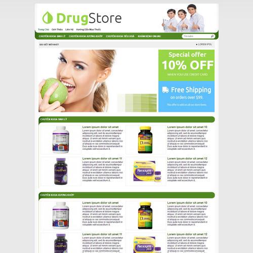 Thiết kế Website dược phẩm 180505