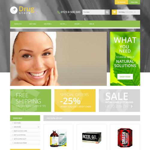 Thiết kế Website dược phẩm 550507