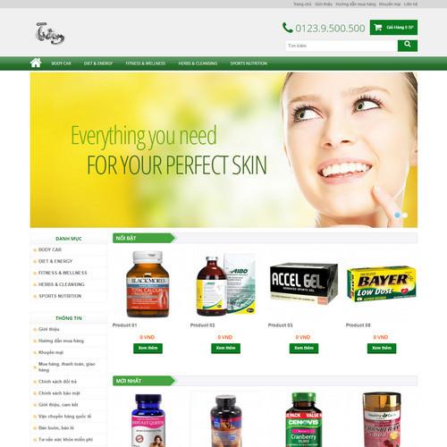 Thiết kế Website dược phẩm 180516