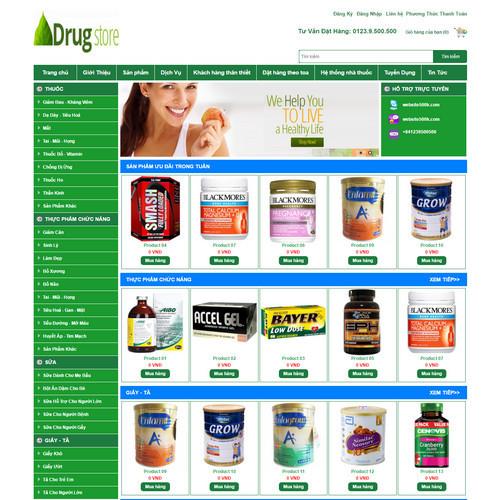 Thiết kế Website dược phẩm 550517