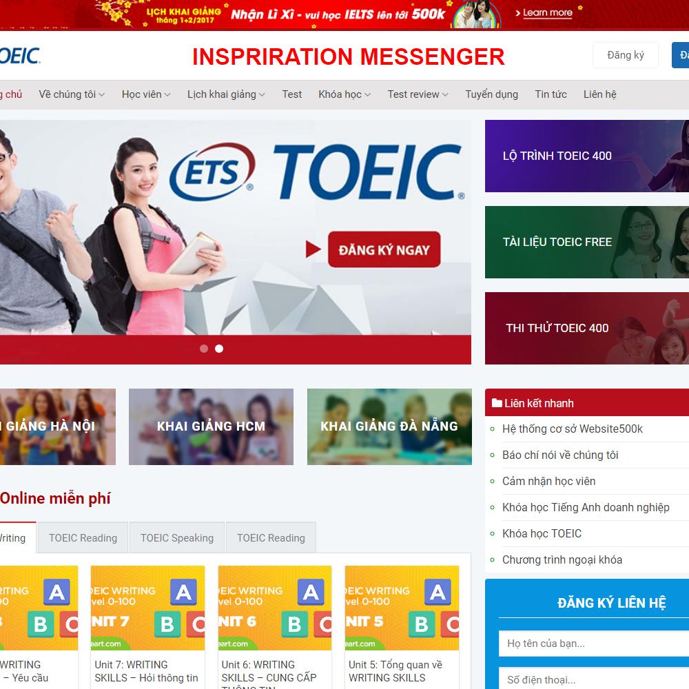 Thiết kế Website trung tâm đào tạo tiếng Anh