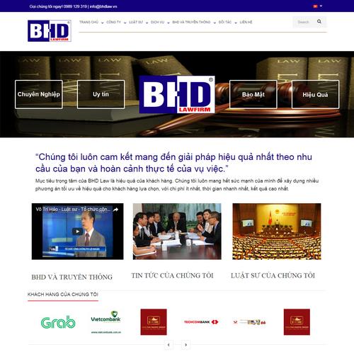 Thiết kế Website Luật 01