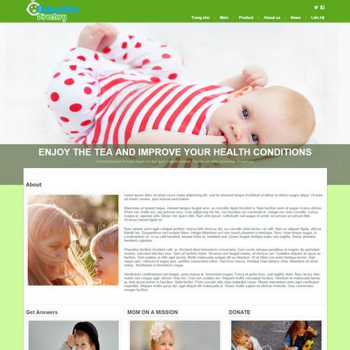 Thiết kế Website mẹ và bé 550510