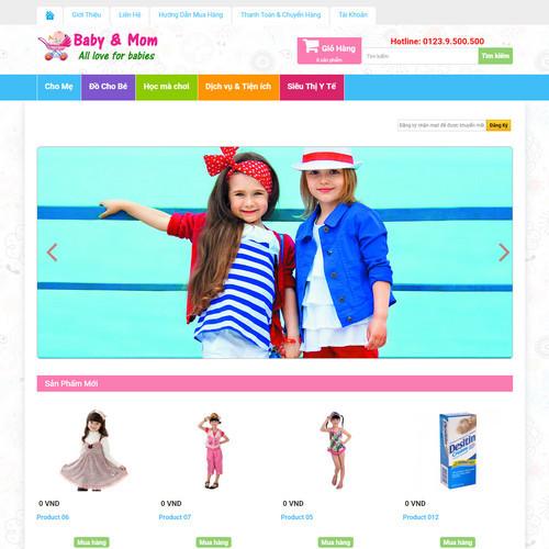 Thiết kế Website mẹ và bé 550515