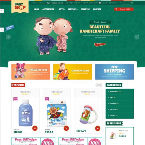 Thiết kế Website mẹ và bé 550519
