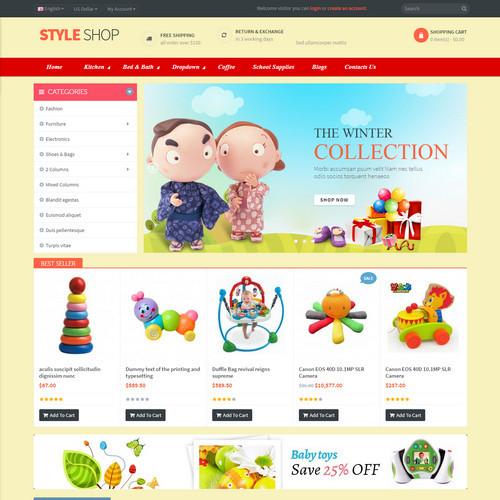 Thiết kế Website mẹ và bé 550522