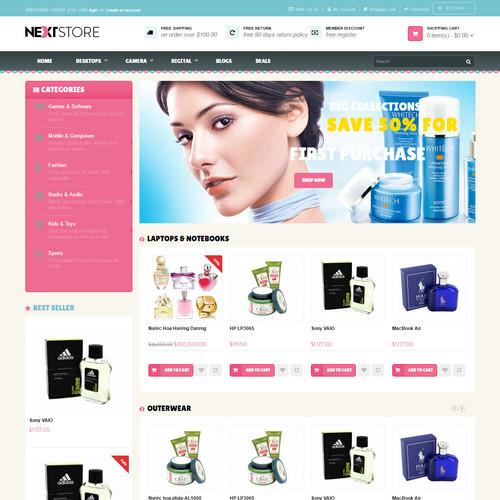 Thiết kế Website mỹ phẩm 550522