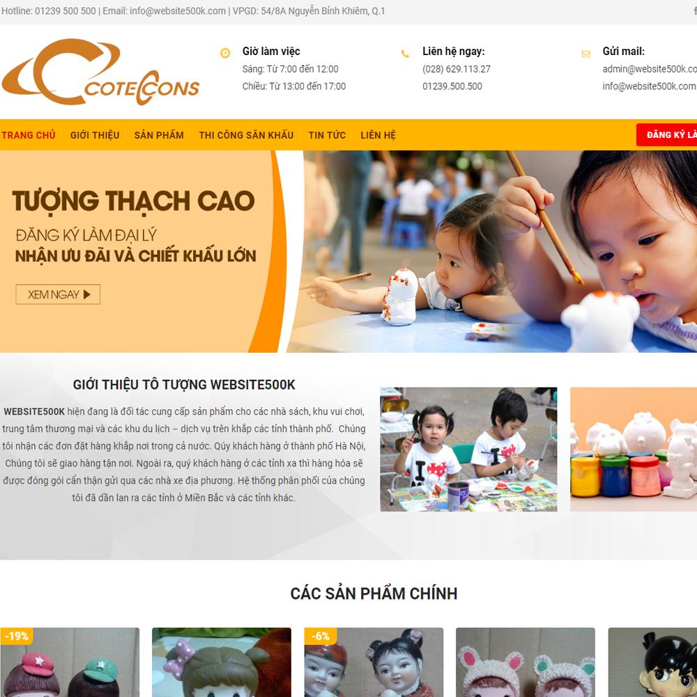 Thiết kế Website bán tượng vẽ màu