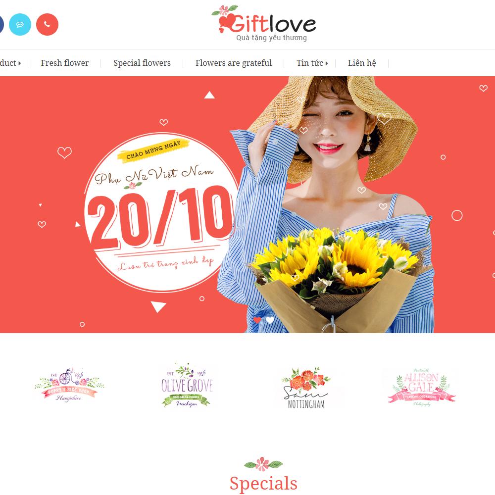 Thiết kế Website bán gói quà GiftLove