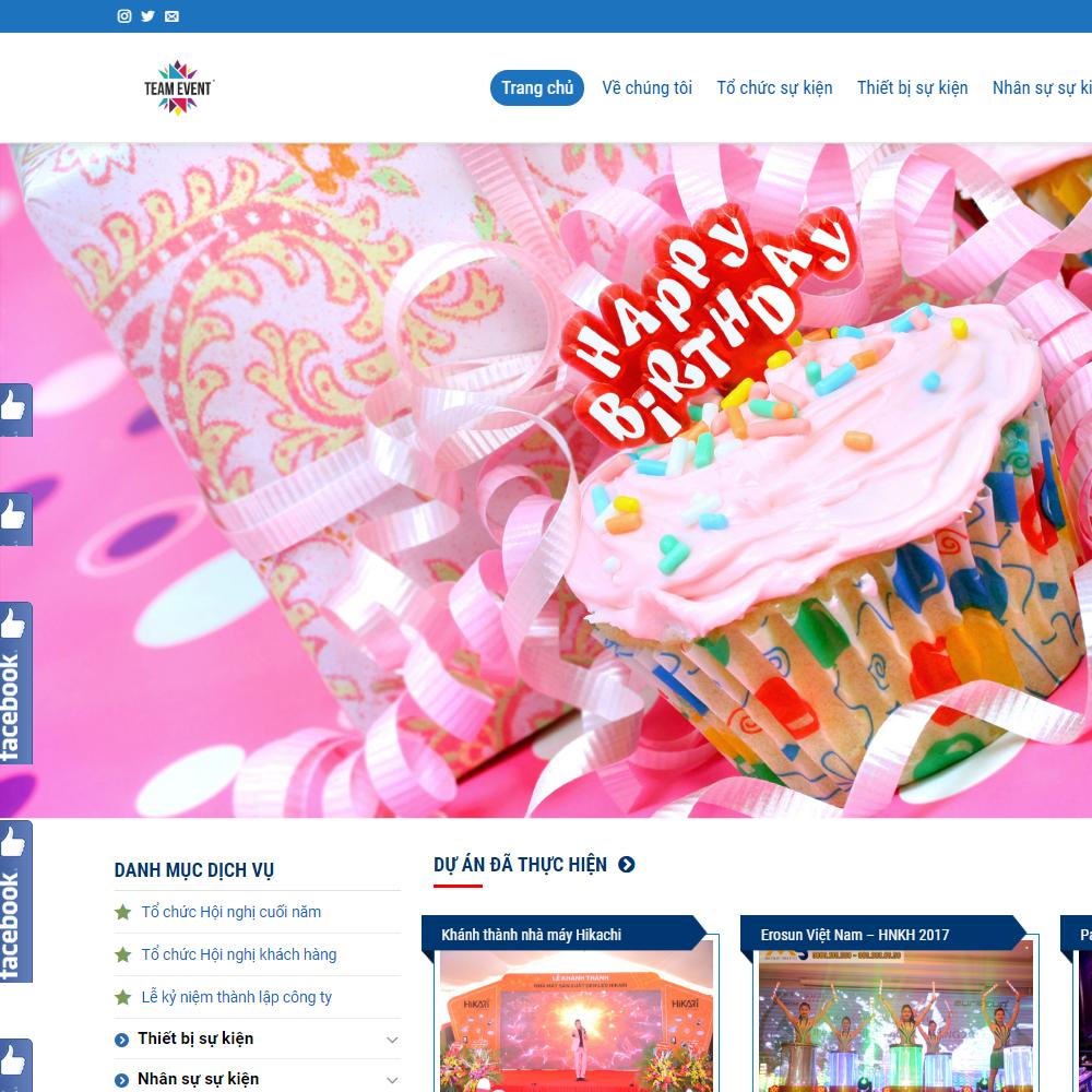 Thiết kế Website tổ chức sự kiện 2