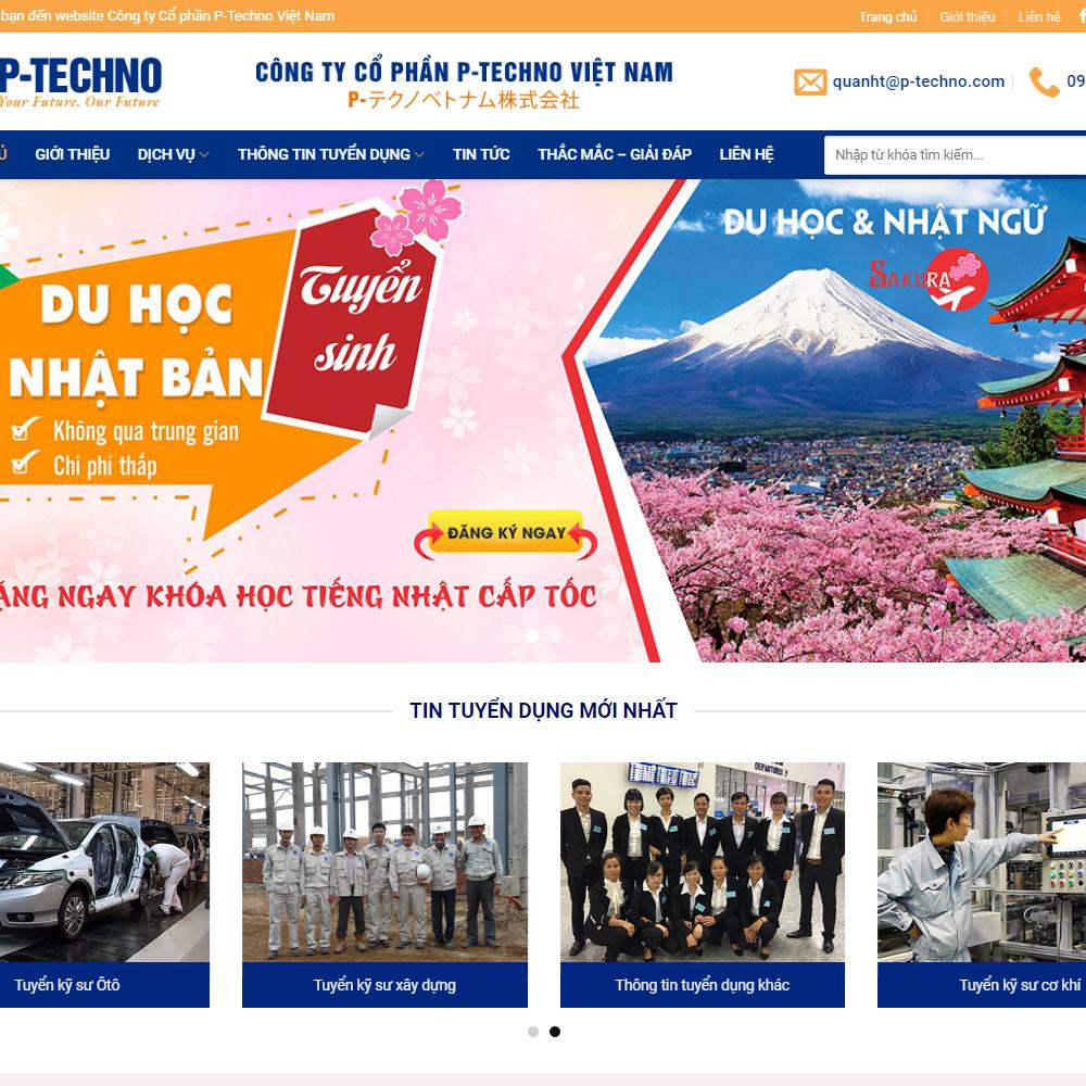 Thiết kế Website xuất nhập khẩu lao động