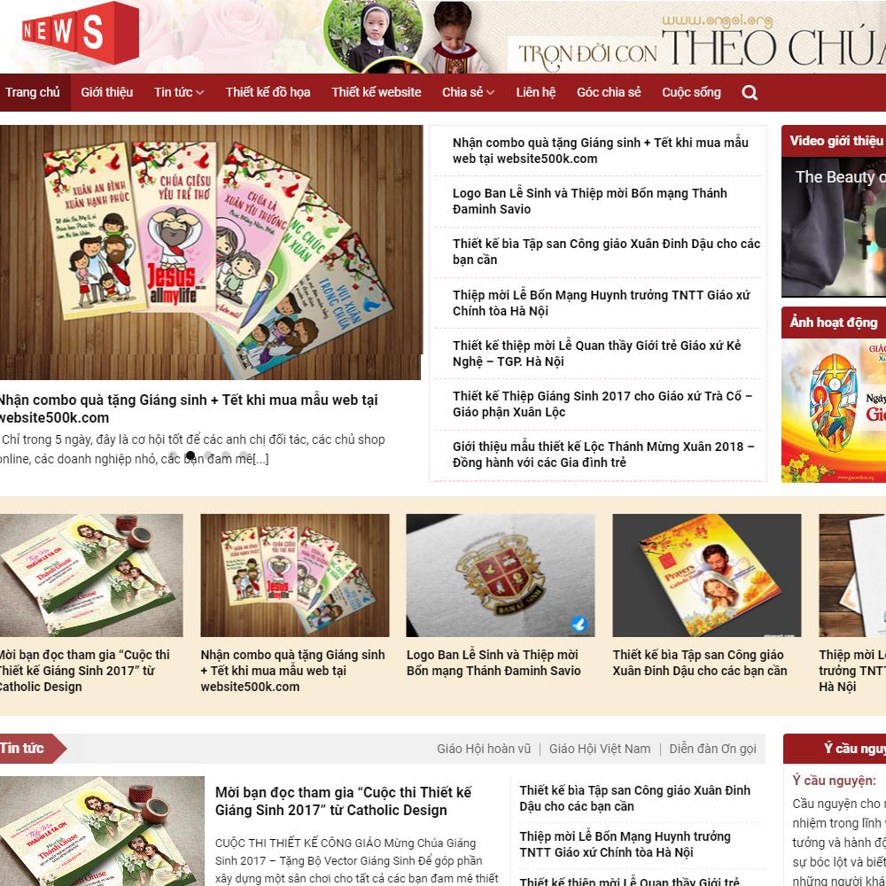 Thiết kế Website tin tức tôn giáo
