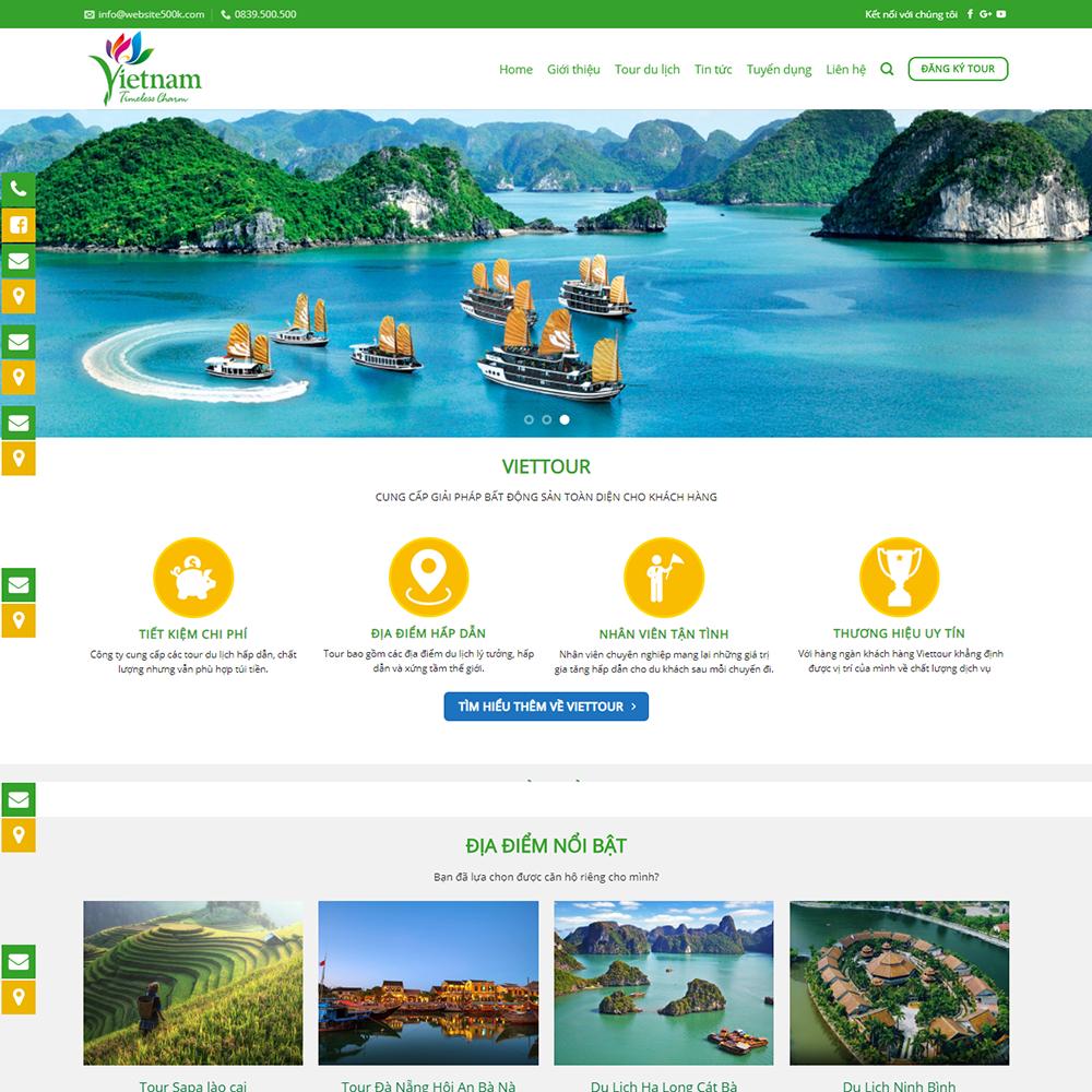 Thiết kế Website dịch vụ du lịch Viettour